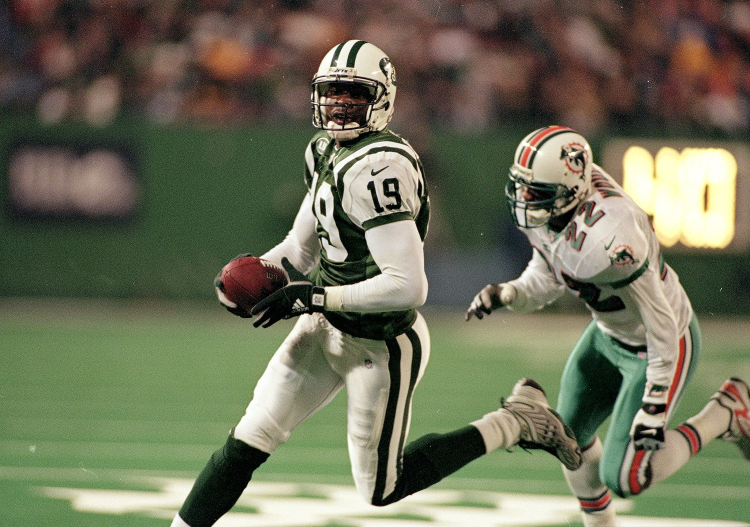 ESPN analyst Keyshawn Johnson began his NFL career with the New York Jets after being drafted No. 1 overall.