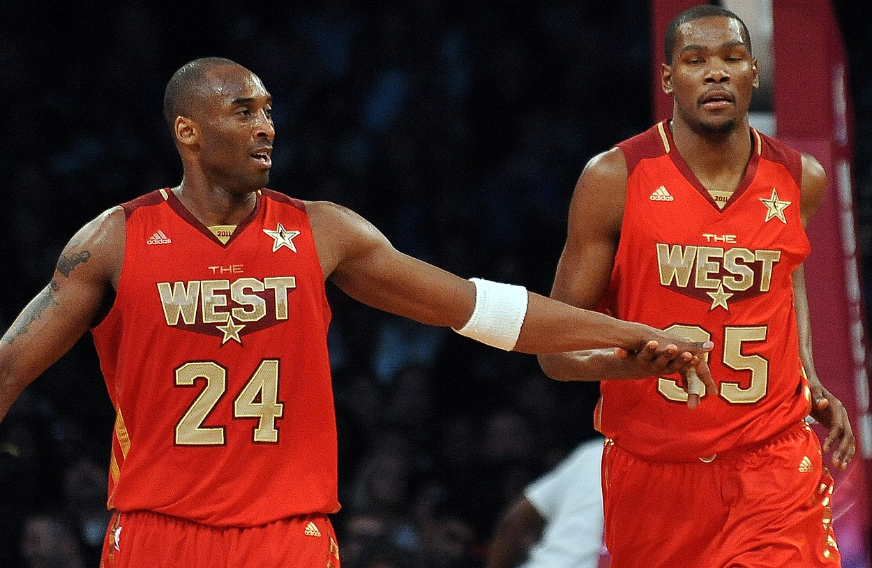 Kobe Bryant and Kevin Durant at the 2011 NBA All-Star Game