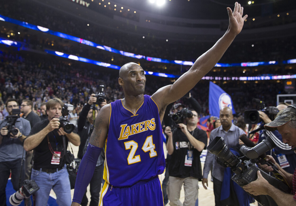 Los Angeles Lakers guard Kobe Bryant in Philadelphia during the 2015-16 season. |