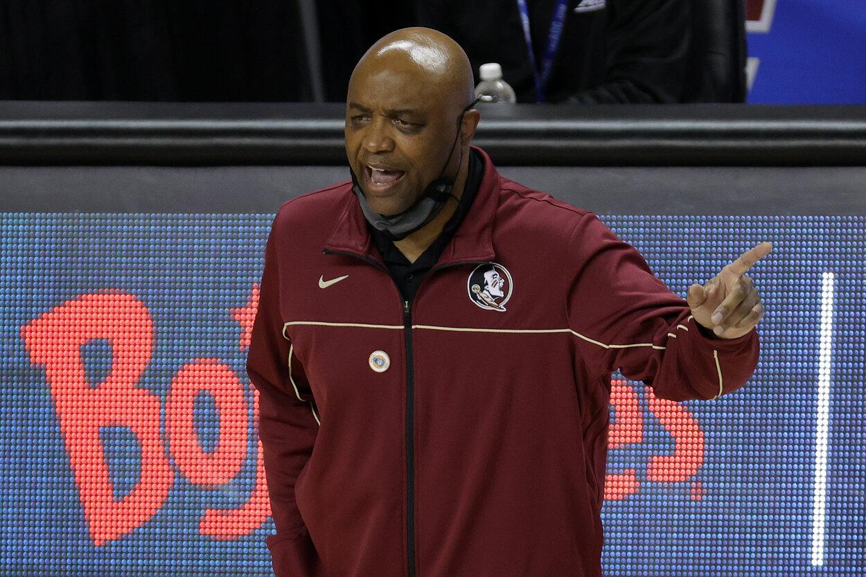 Florida State men's basketball coach Leonard Hamilton in 2021.
