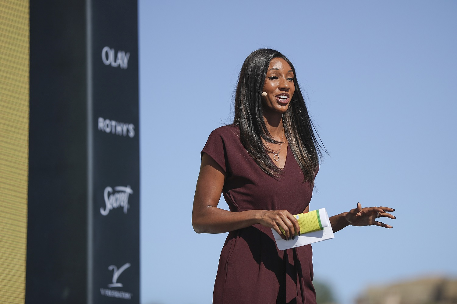 ESPN sideline reporter and host Maria Taylor says she loves the chicken wings at a well-known Atlanta strip club.