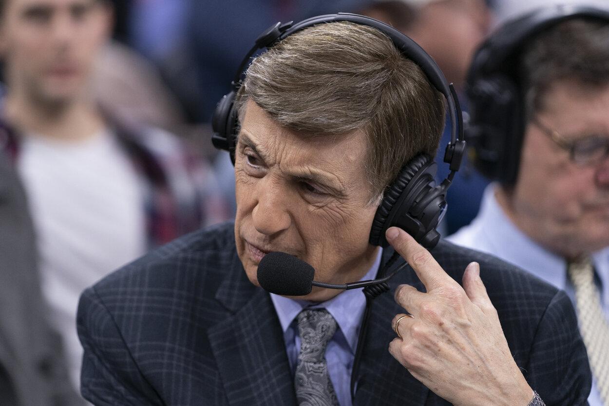 NBA announcer Marv Albert in 2020.