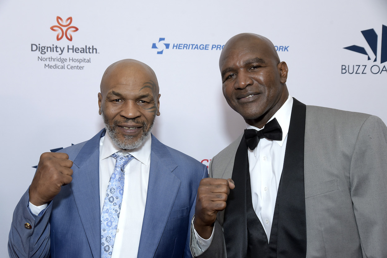 Boxing legends Mike Tyson and Evander Holyfield