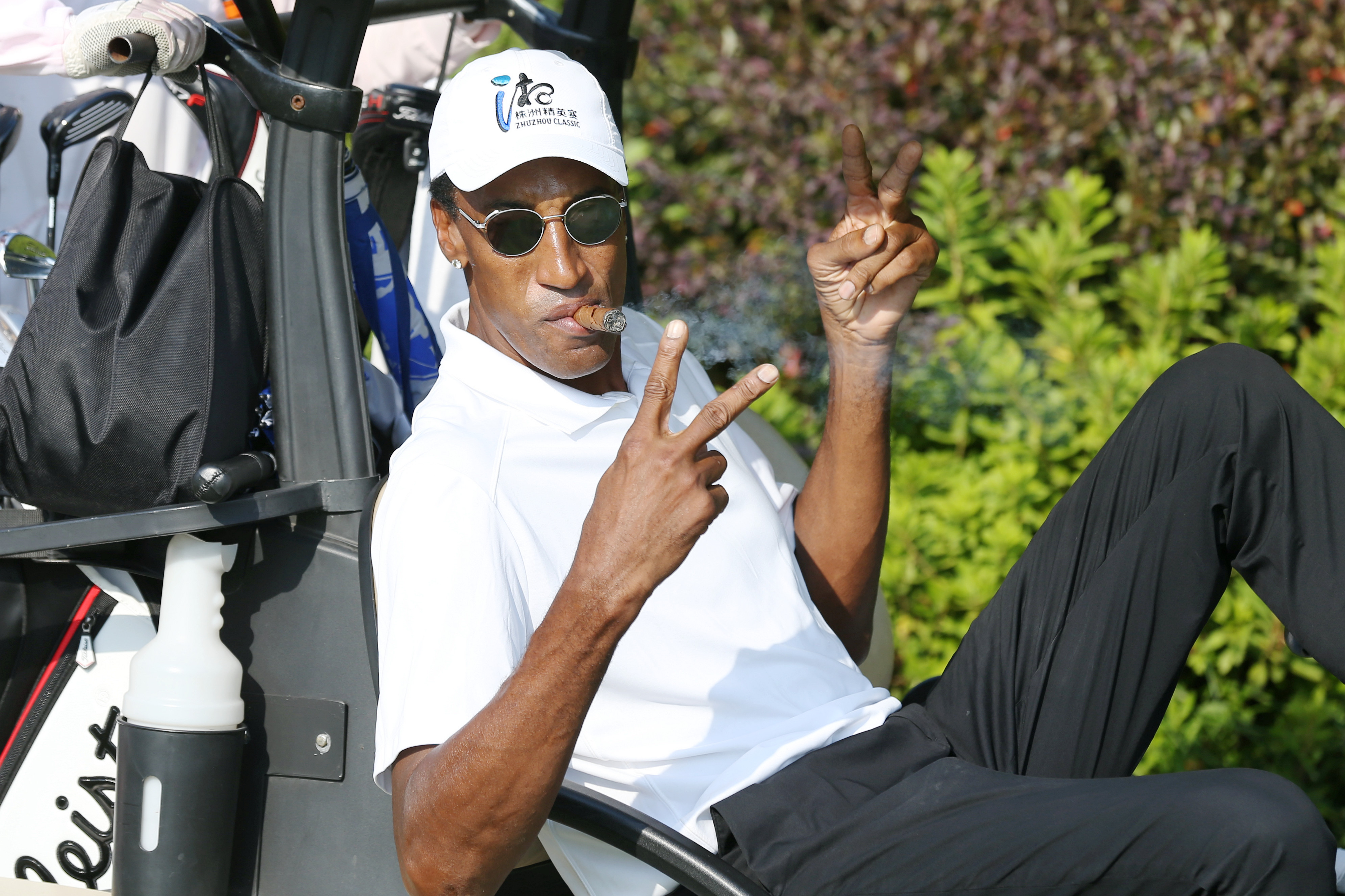 NBA legend Scottie Pippen attends the PGA Tour Series China in 2019