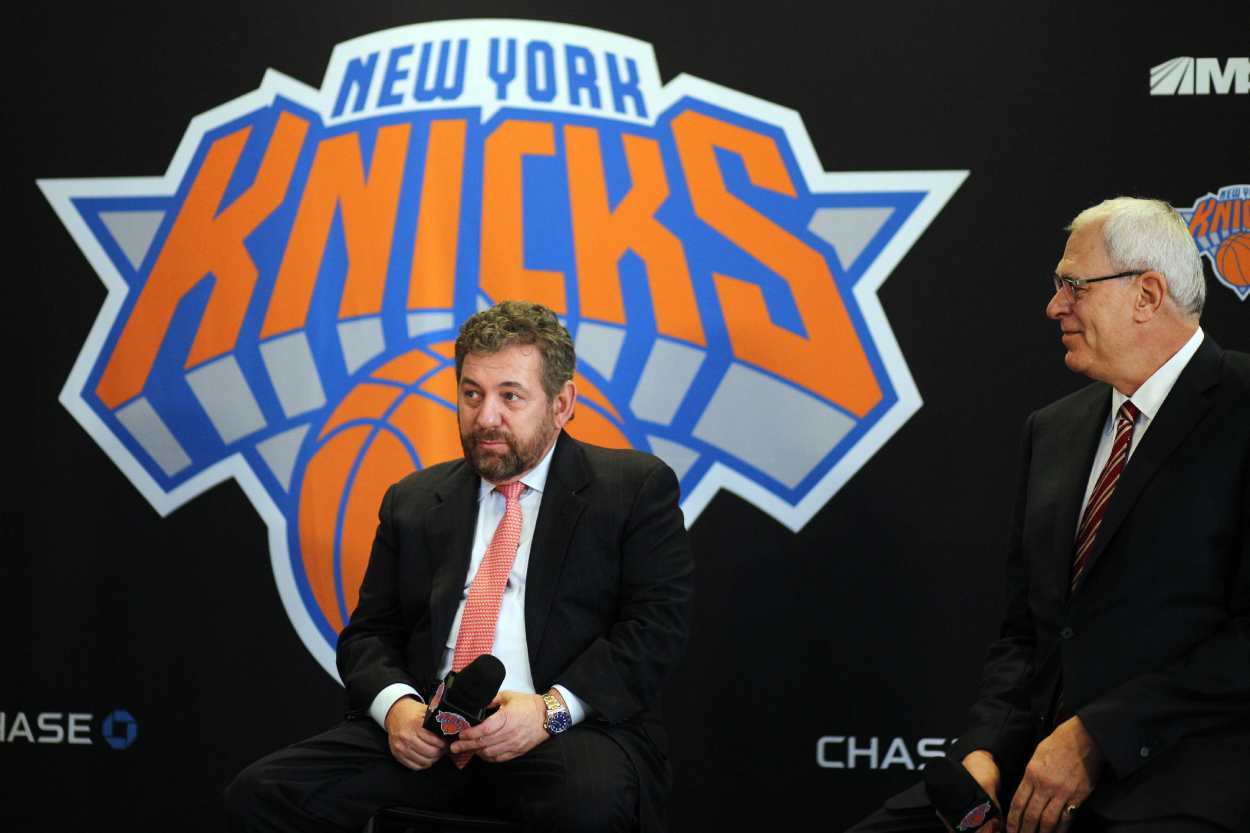 The New York Knicks removed a fan who was wearing a 'Ban Dolan' shirt at the game Tuesday.