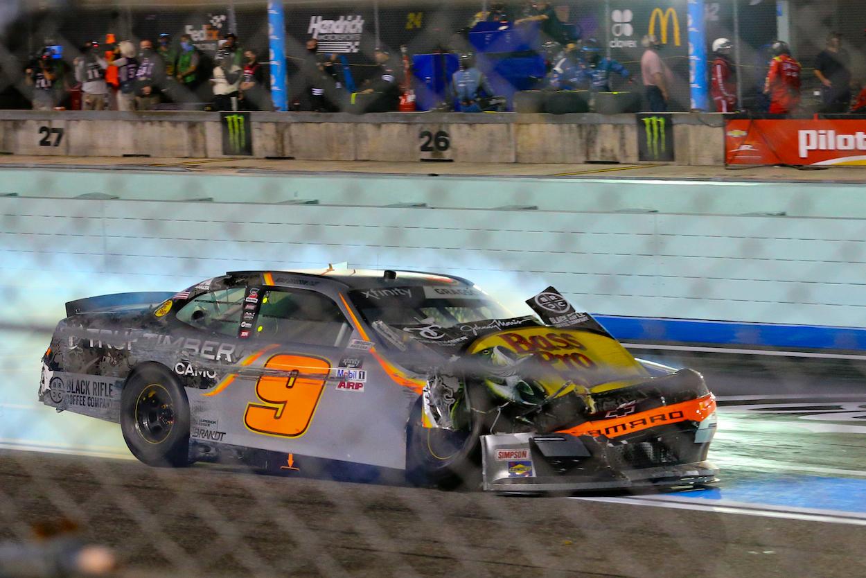 Noah Gragson drives car owned by Dale Earnhardt Jr.