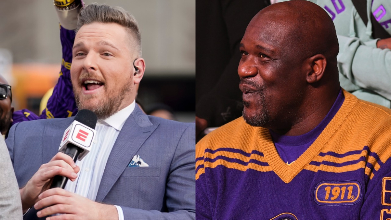 Former Colts punter Pat McAee, who has a successful radio show, and basketball legend Shaquille O'Neal.
