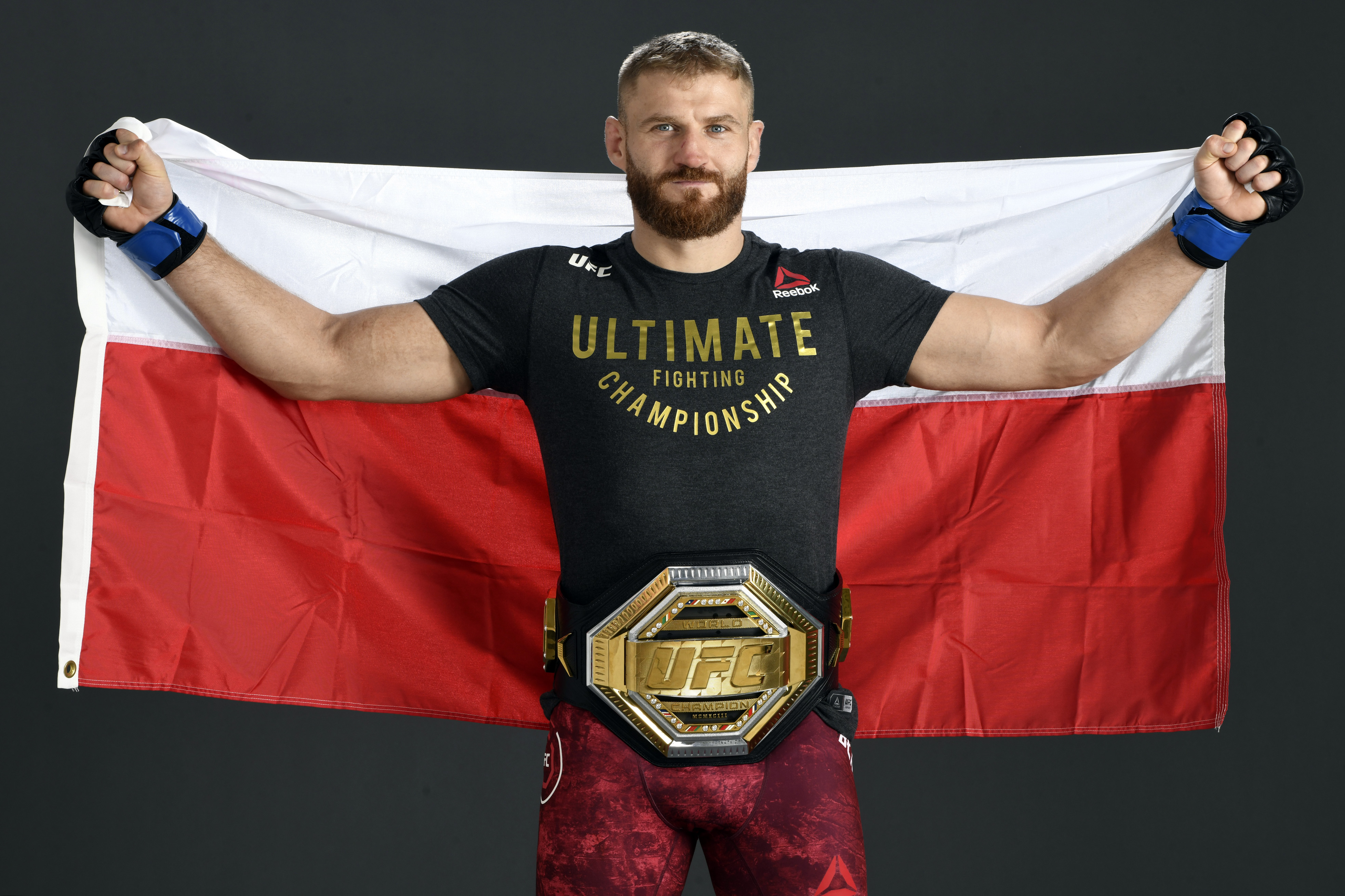 Jan Blachowicz of Poland poses for a post-fight portrait