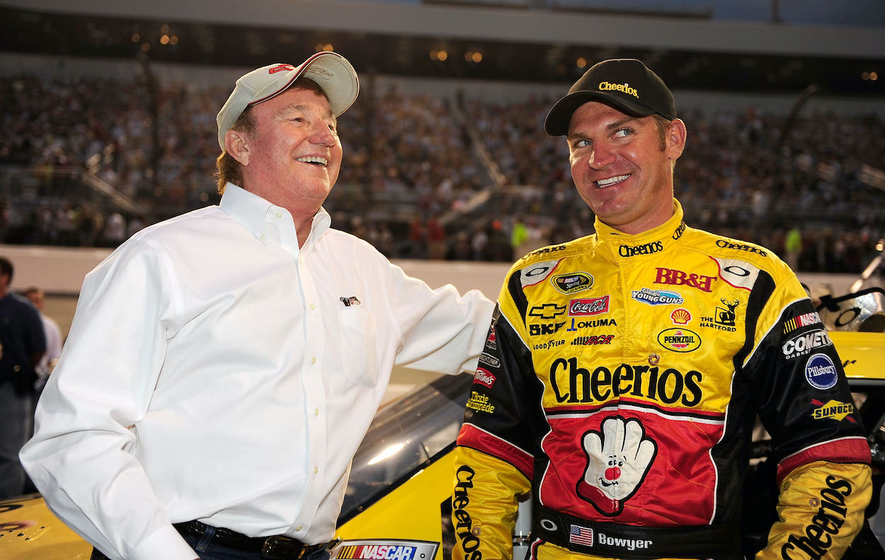 Richard Childress and Clint Bowyer laughing