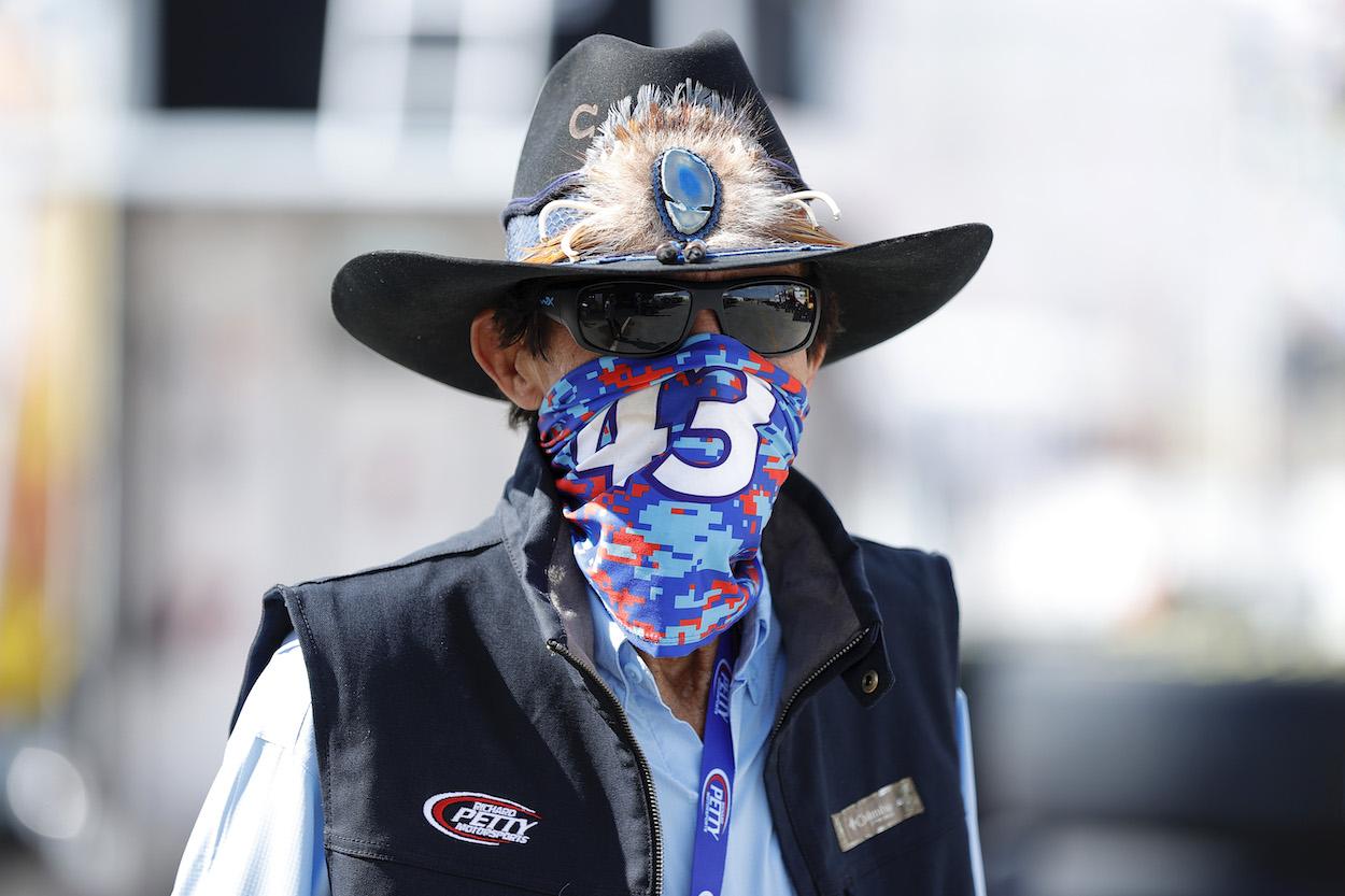 Richard Petty before a race