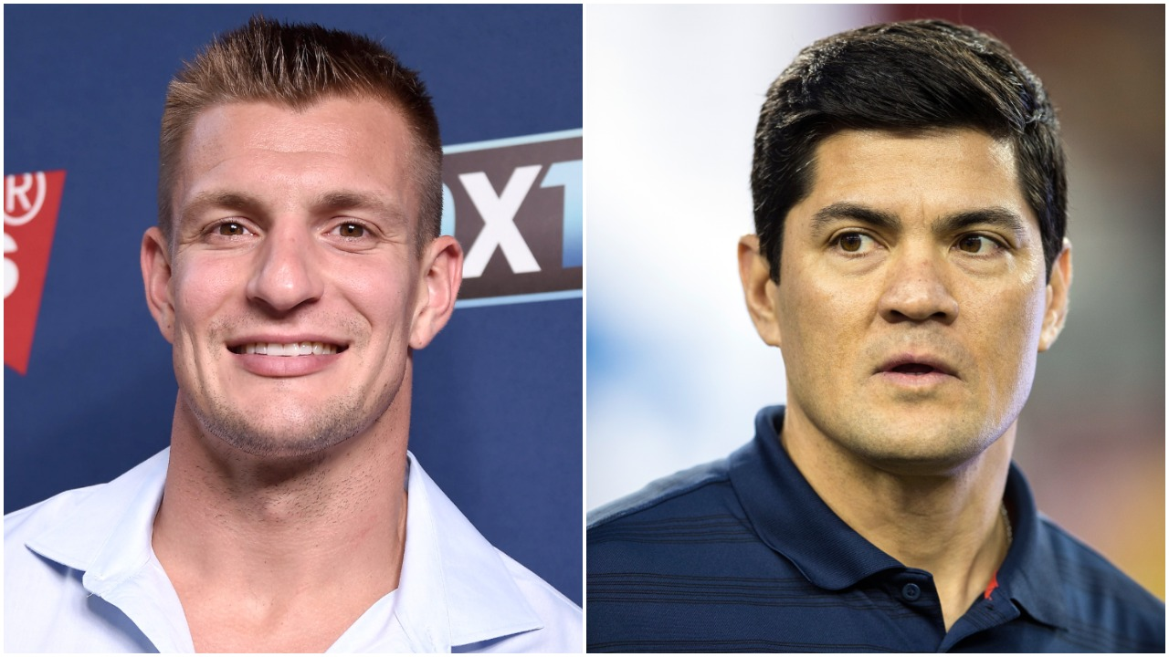 Former Arizona Wildcats and New England Patriots stars Rob Gronkowski and Tedy Bruschi