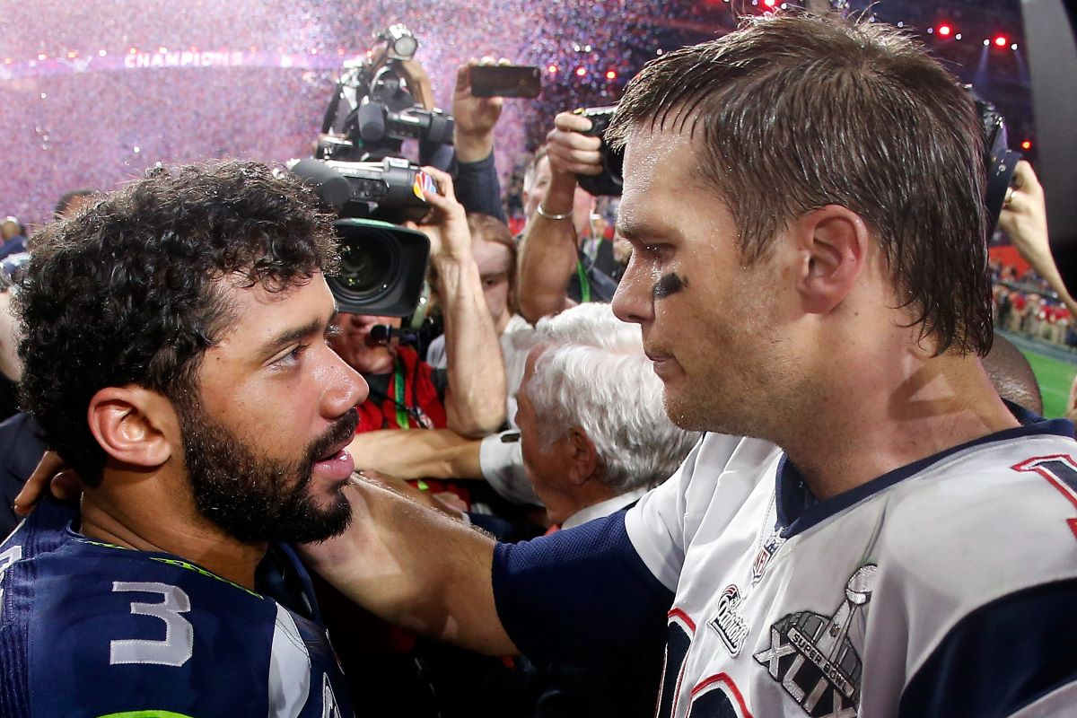 Seahawks quarterback Russell Wilson, who has been involved in trade rumors, throws a pass against the 49ers.
