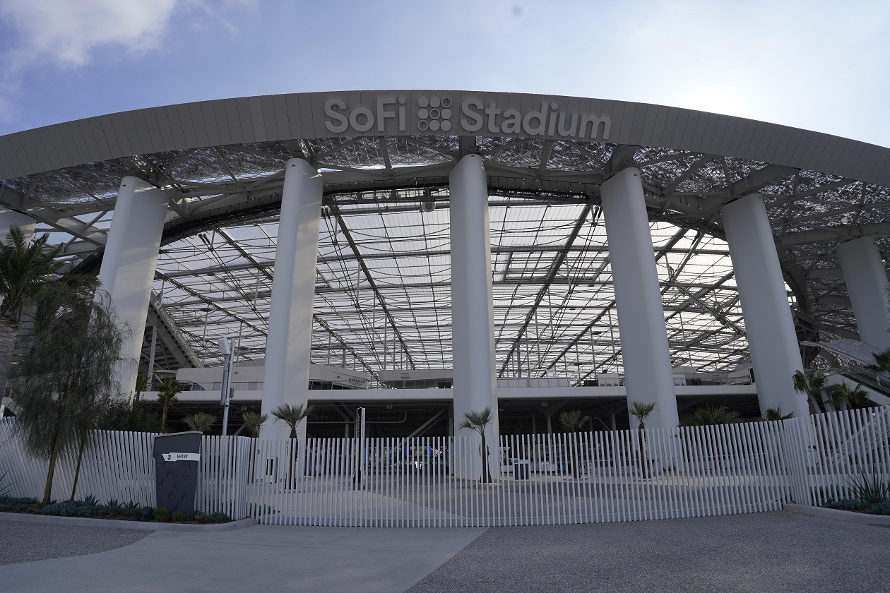 SoFi Stadium in Inglewood, CA -- home of the Los Angeles Rams