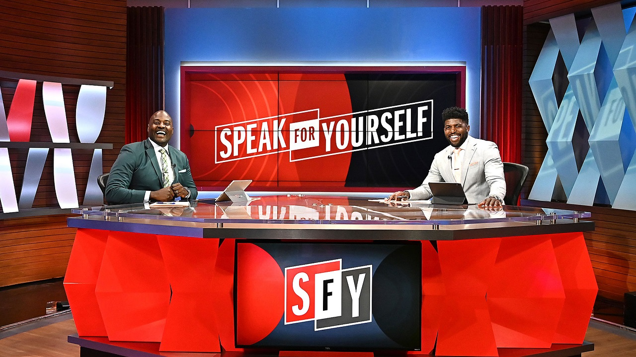 Marcellus Wiley and Emmanuel Acho, hosts of FS1's Speak for Yourself