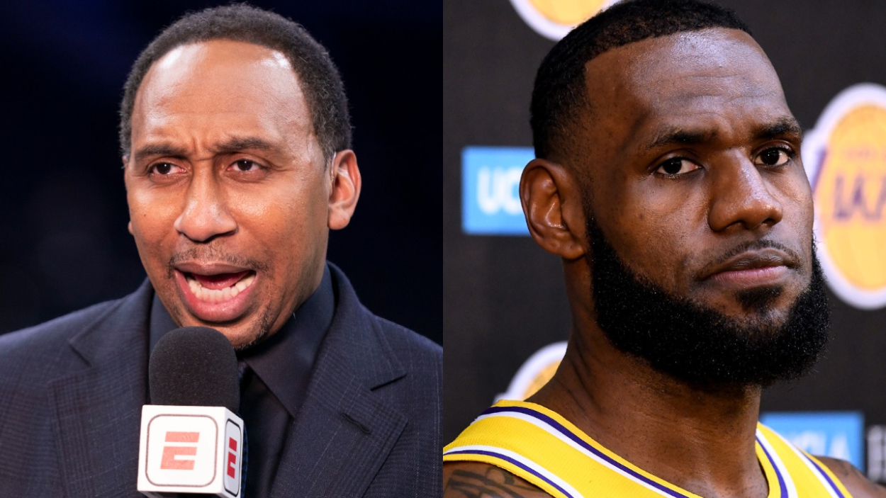 Stephen A. Smith, who has his own show on ESPN, and LeBron James, who is looking to win more championships with the Lakers.