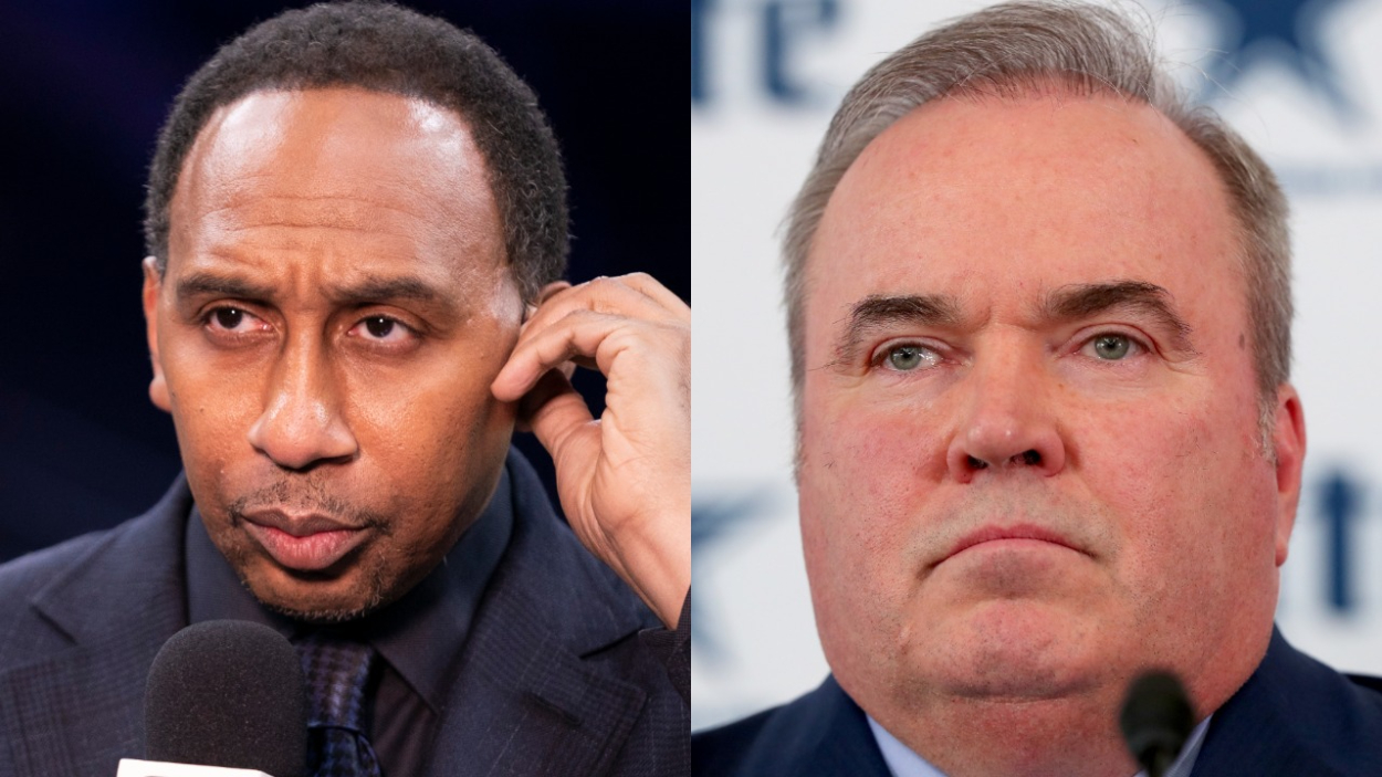 ESPN's Stephen A. Smith and Cowboys coach Mike McCarthy.
