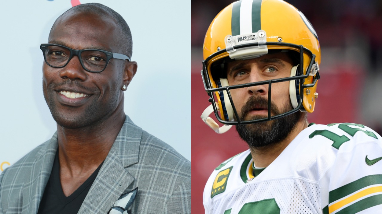 Terrell Owens and Aaron Rodgers are NFL legends but may have a feud after Owens tried shooting his shot with Rodgers' ex-girlfriend.