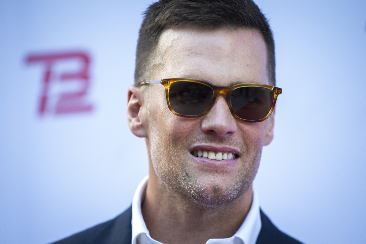 NFL legend Tom Brady at his TB12 Grand Opening Event.