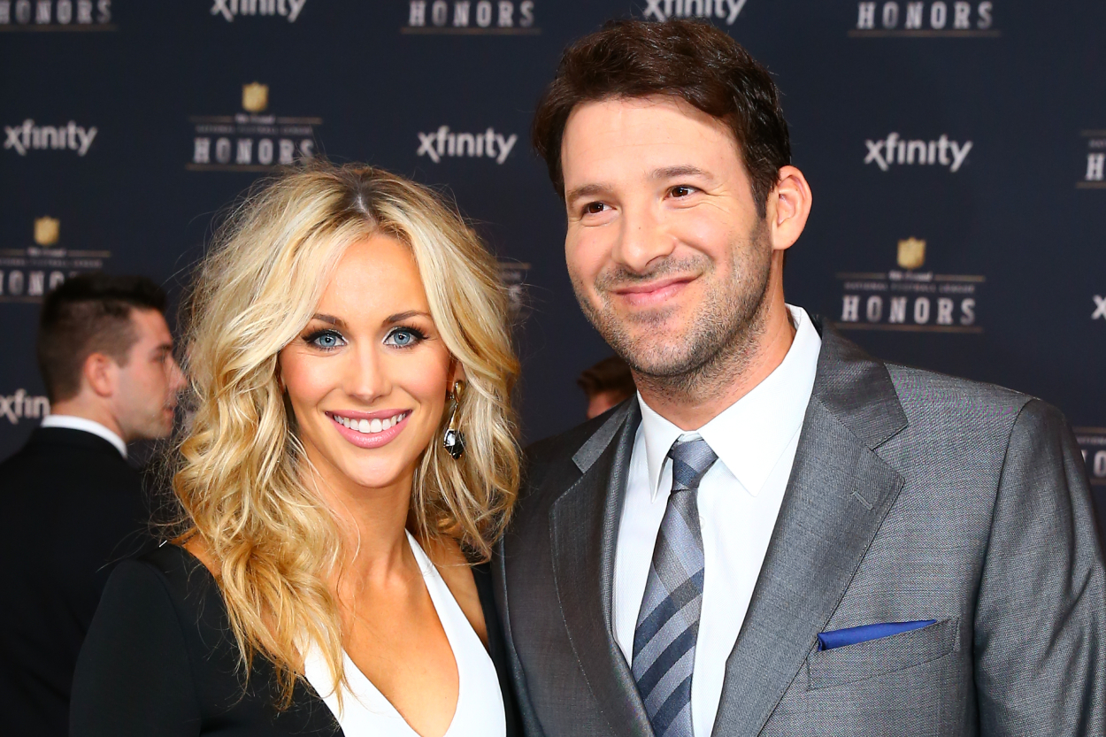 Former Dallas Cowboys quarterback Tony Romo and his wife Candice Crawford.