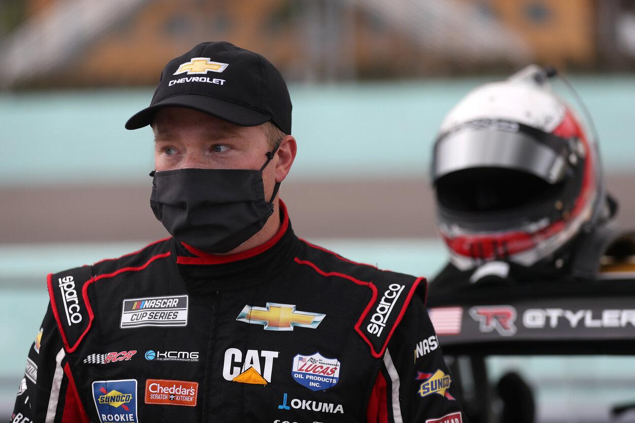 NASCAR driver Tyler Reddick before a 2020 race.