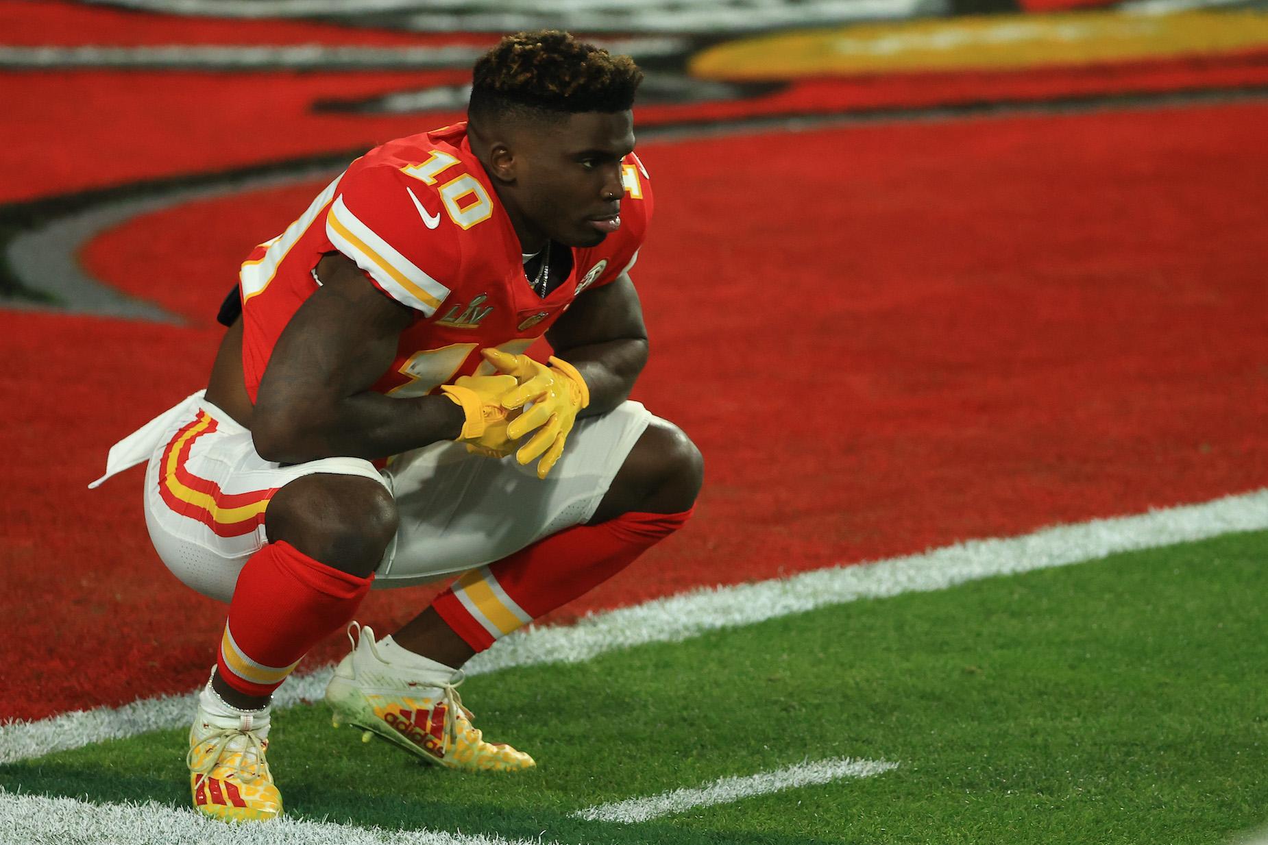 Kansas City Chiefs wide receiver Tyreek Hill ahead of Super Bowl 55