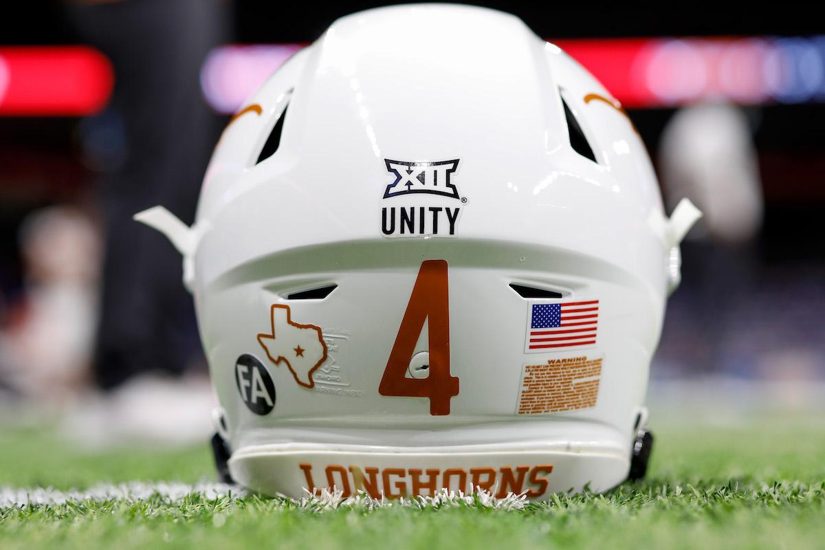 The University of Texas football helmet