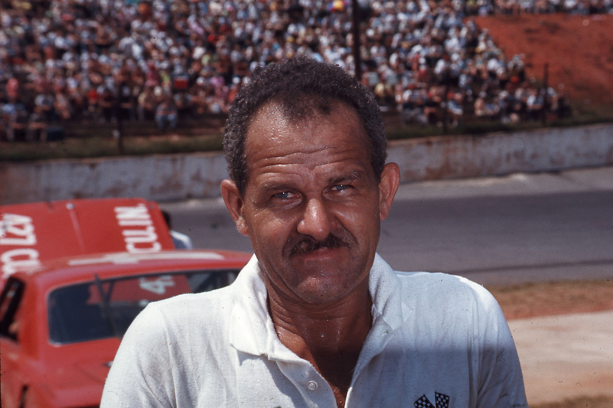 Legendary NASCAR driver Wendell Scott poses for a picture