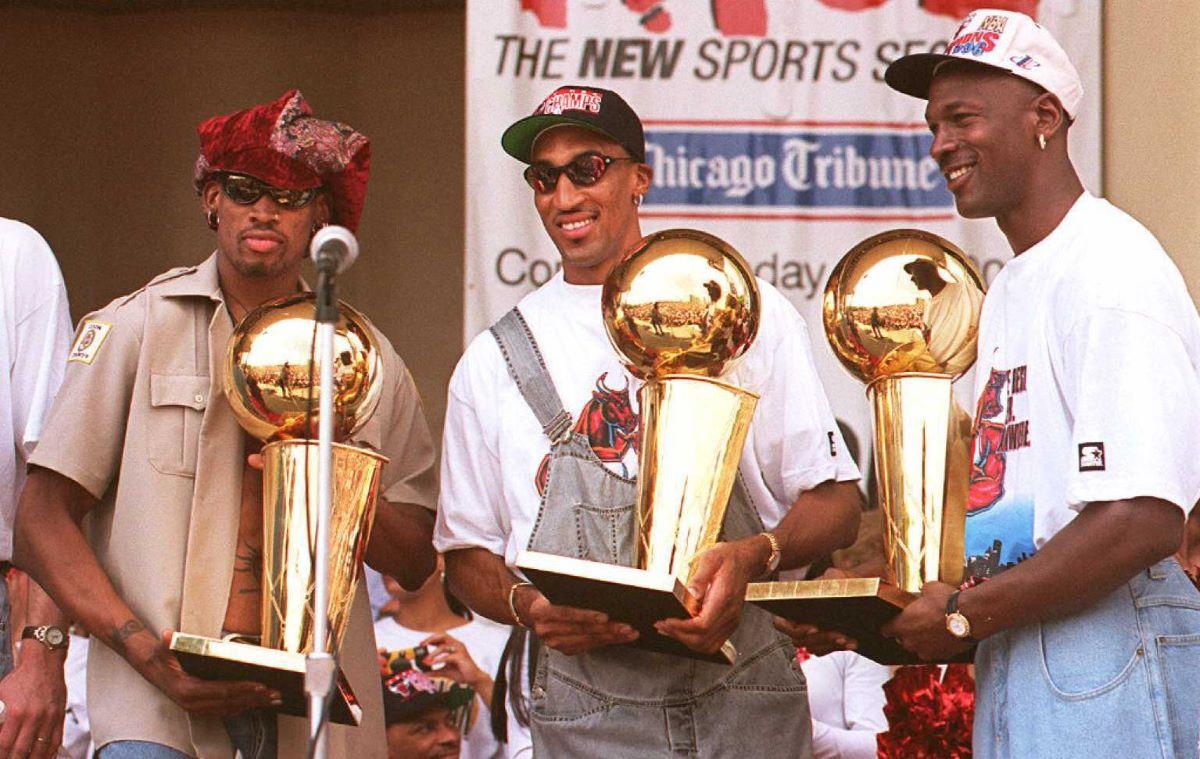 Scottie Pippen, Dennis Rodman, Michael Jordan, Bulls, NBA