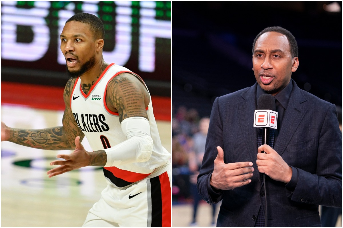 Stephen A. Smith's Blunt 2 Word Response About Damian Lillard Won't Sit Well With Blazers Fans