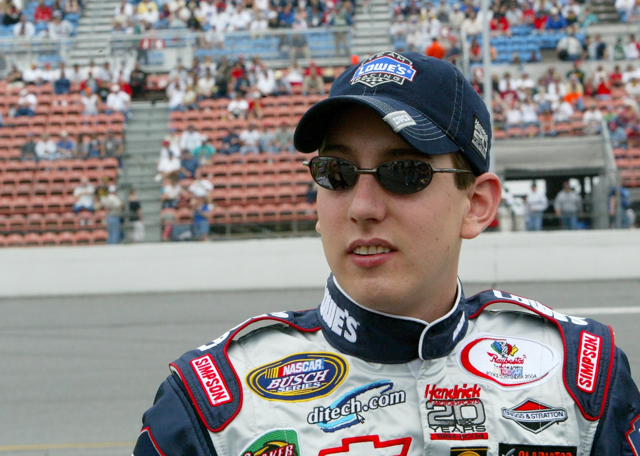 Kyle Busch, pictured in 2004 as a Busch Series driver at Hendrick Motorsports