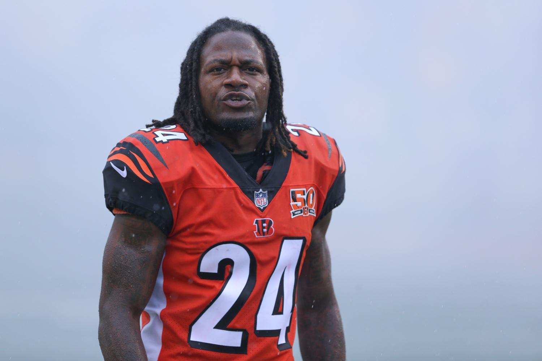 Cincinnati Bengals cornerback Adam Jones walks onto the field