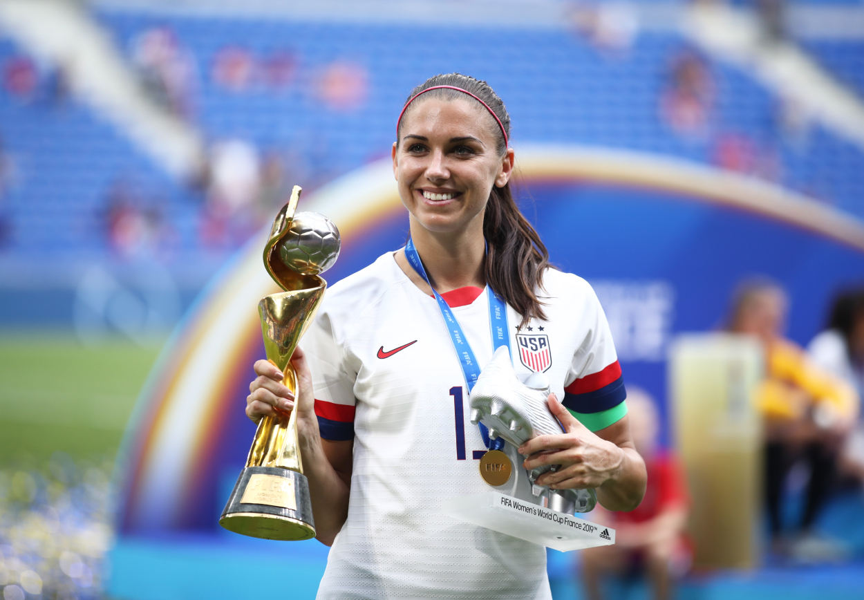 Soccer star Alex Morgan, who is making history with her latest business venture.