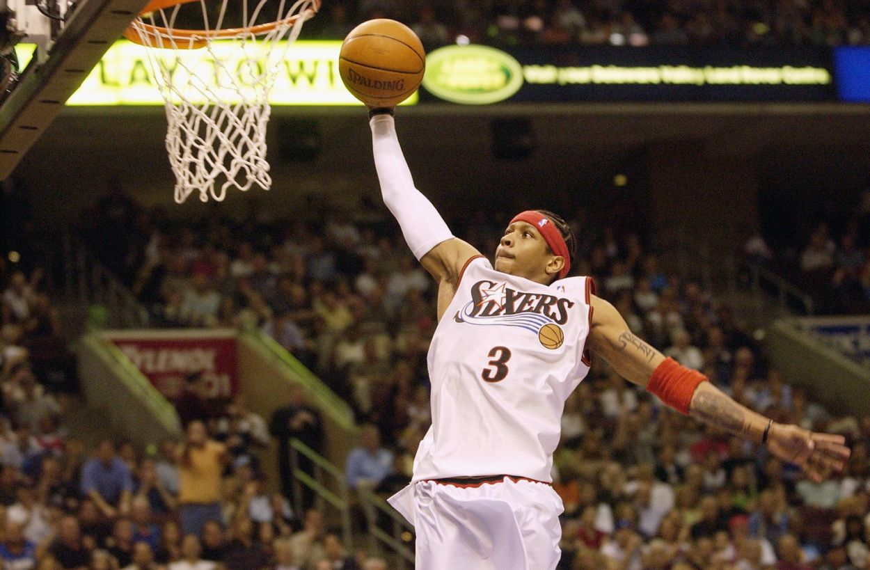 Philadelphia 76ers star Allen Iverson during the 2003 NBA playoffs.