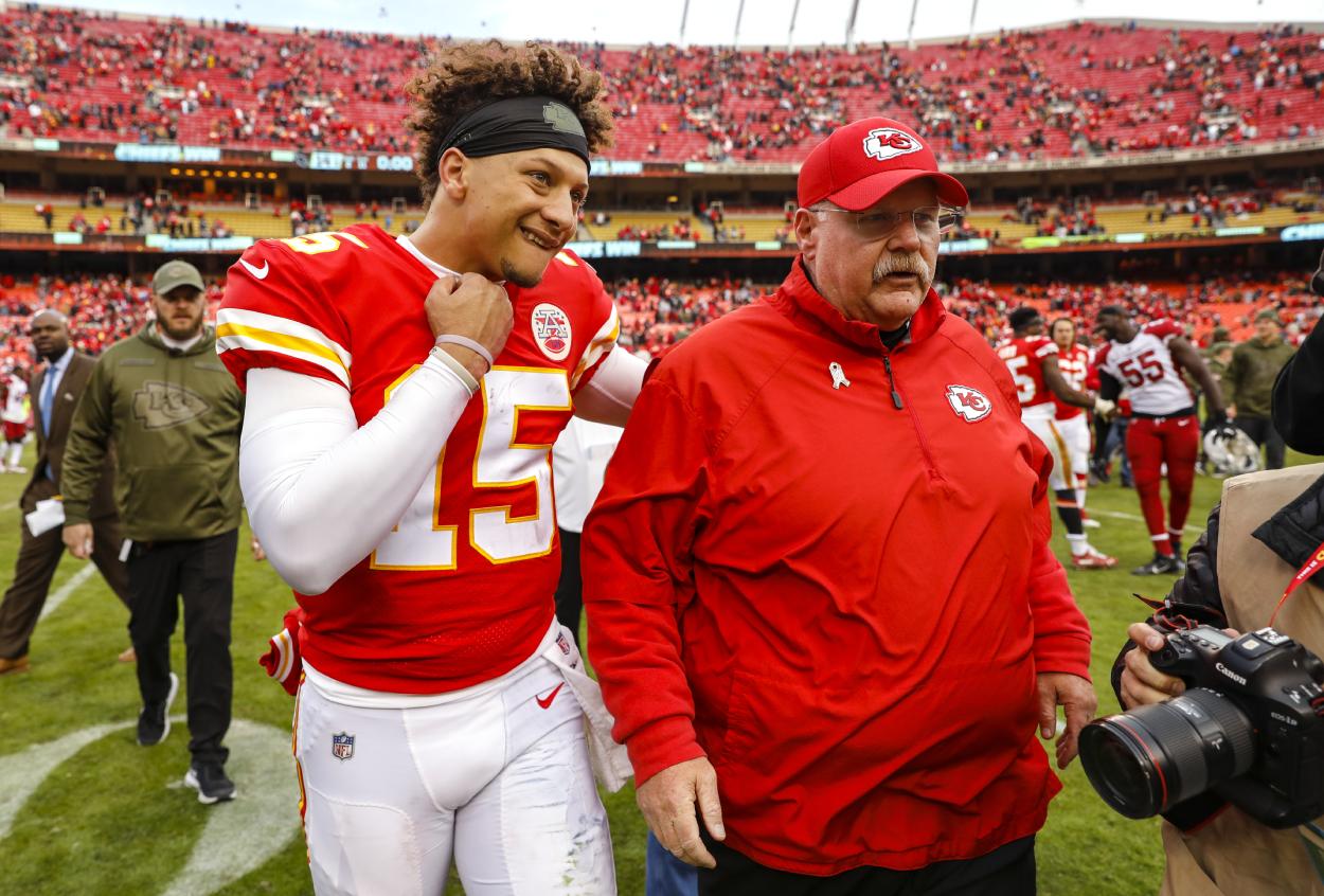 Kansas City Chiefs quarterback Patrick Mahomes and head coach Andy Reid.