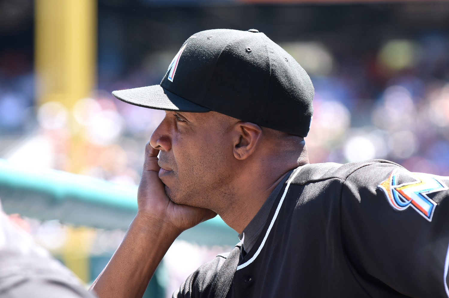 Barry Bonds, MLB's all-time leader in home runs, lasted one season as the hitting coach of the Miami Marlins. | Mark Cunningham/MLB Photos via Getty Images