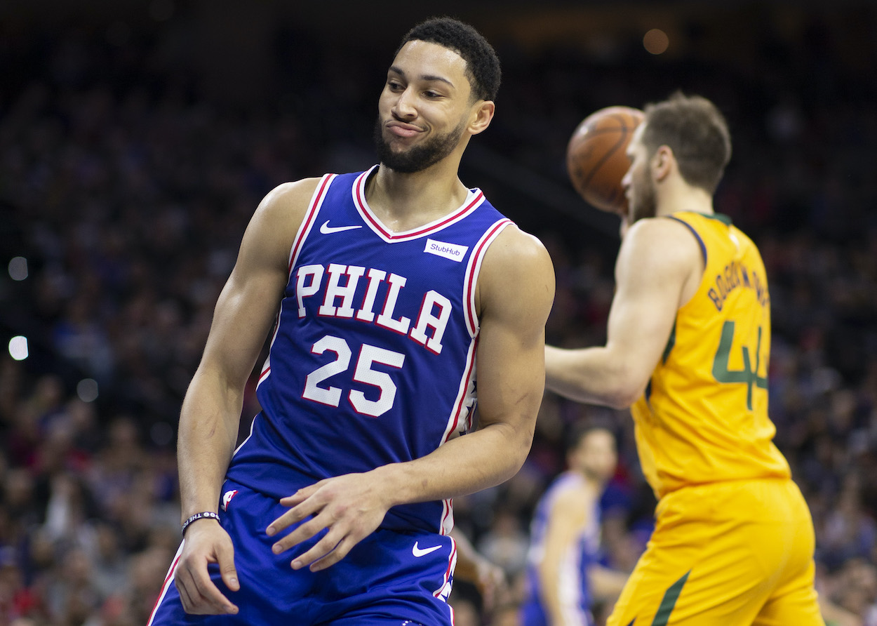 Sixers point guard Ben Simmons