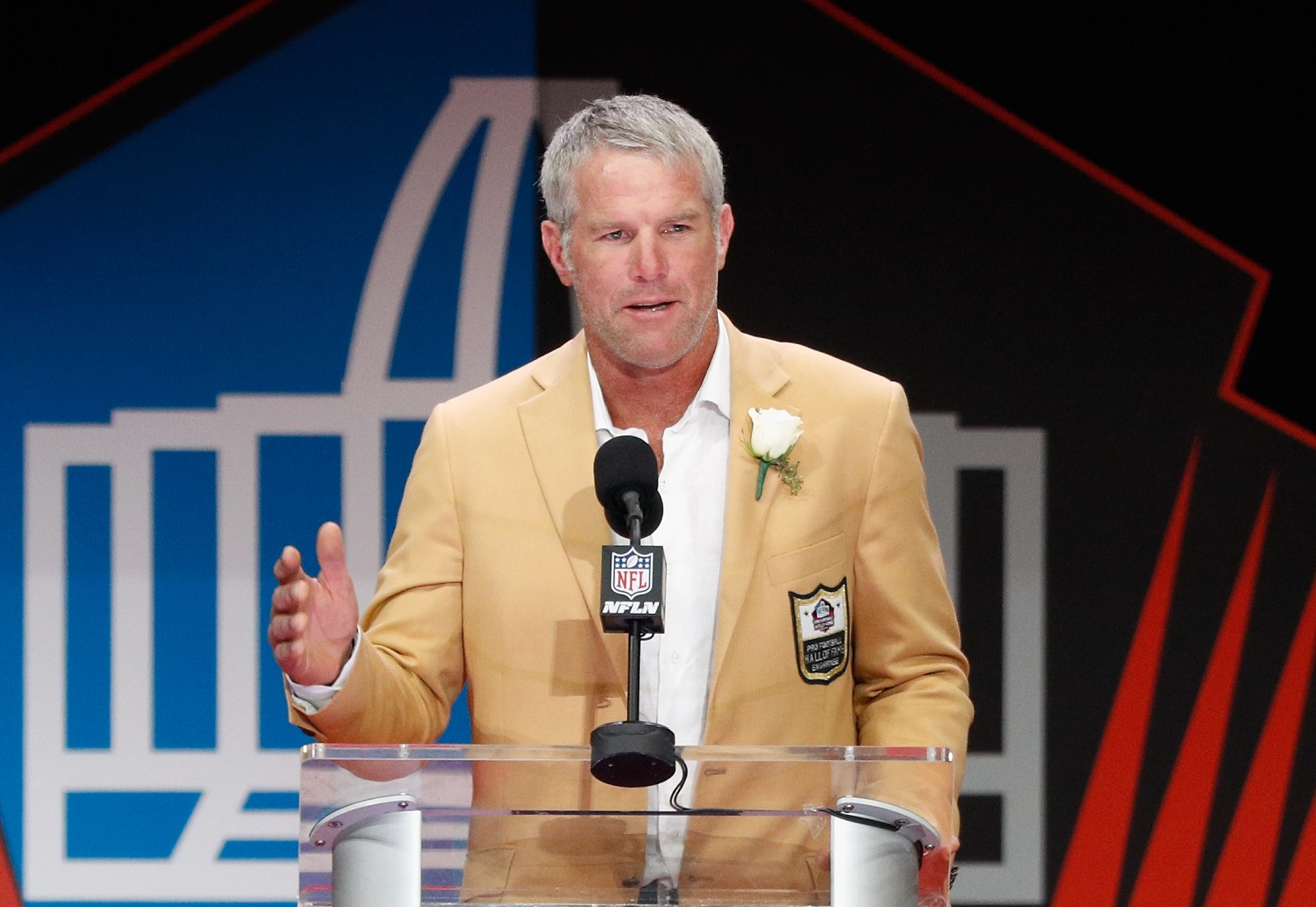 Green Bay Packers legend Brett Favre was inducted into the Pro Football Hall of Fame in 2016.