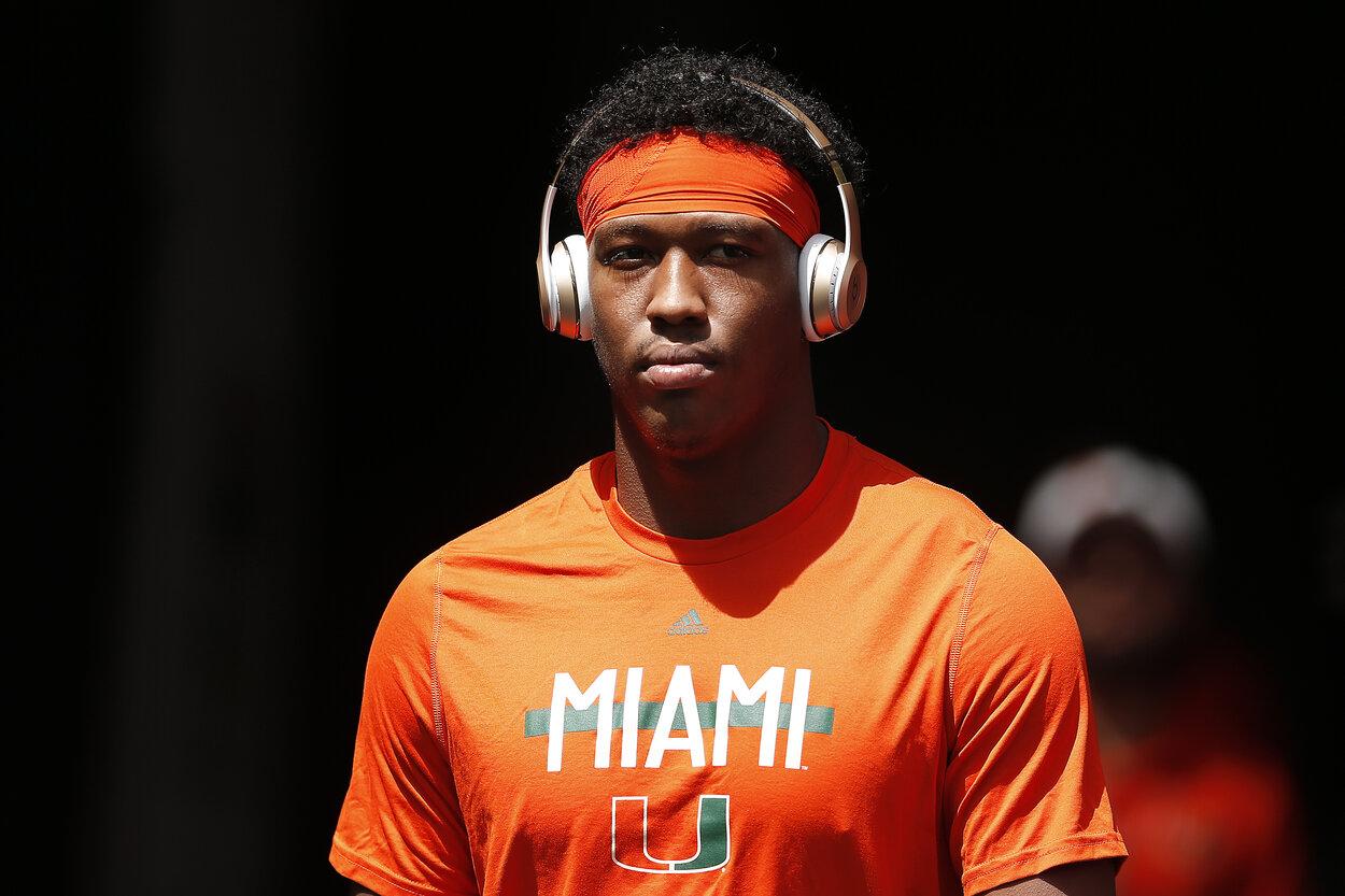 Former Miami Hurricanes tight end Brevin Jordan.