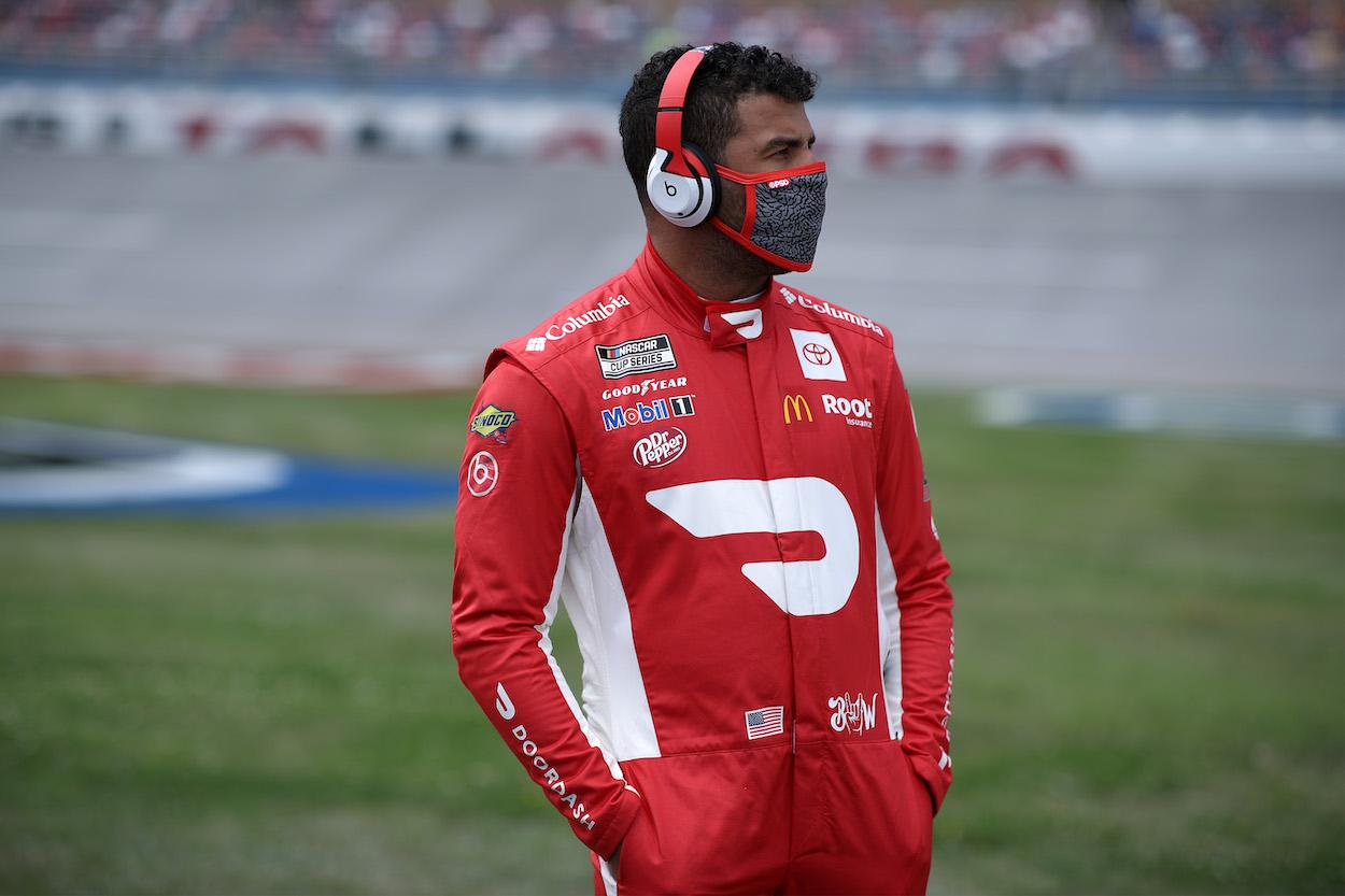 Bubba Wallace before race at Talladega