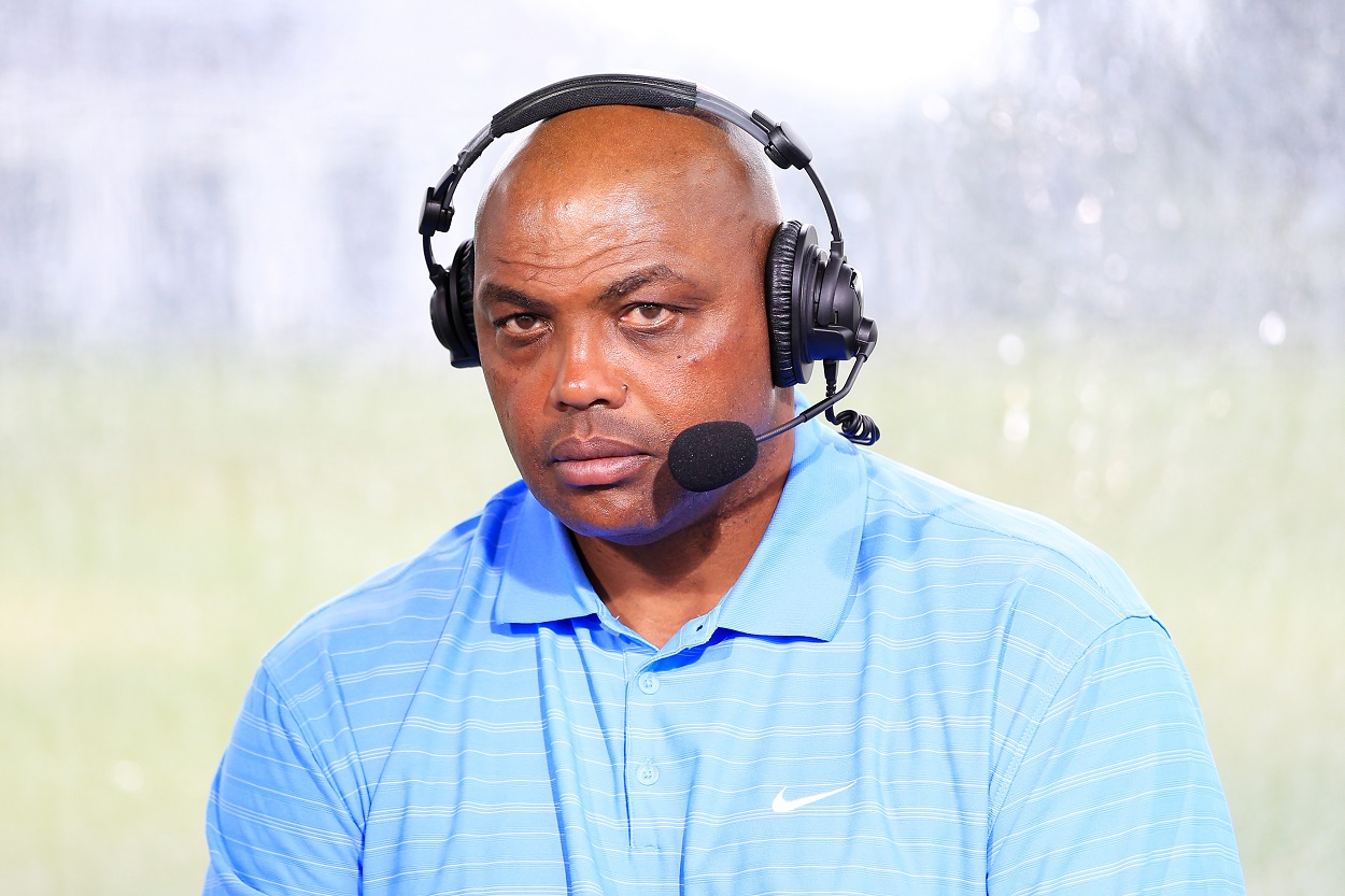 Charles Barkley commentates at The Match: Champions for Charity in May 2020
