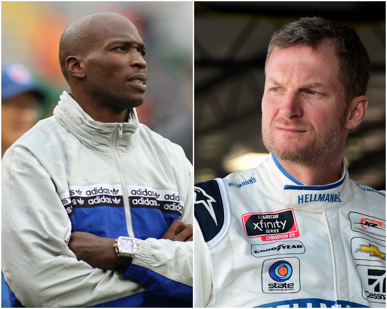 Dale Earnhardt Jr. Calls Out Chad Johnson for His 'Weird' Behavior During Ride-Along at Charlotte Motor Speedway