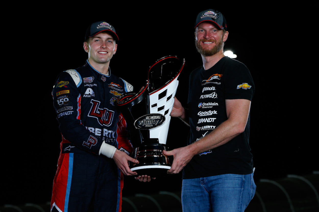 Xfinity Series team owner Dale Earnhardt Jr. with driver William Byron