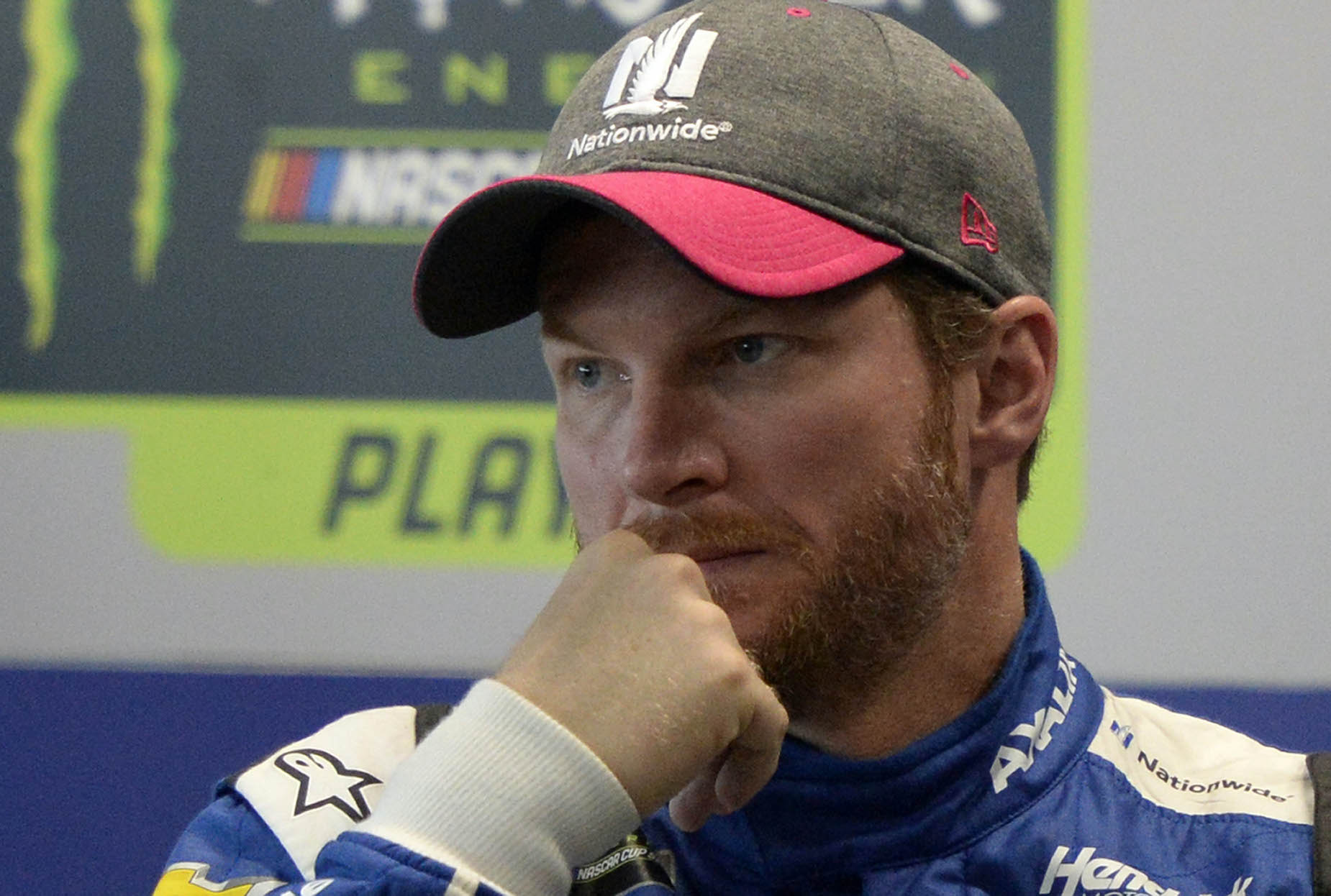 Dale Earnhardt Jr. during his media availability in 2017.
