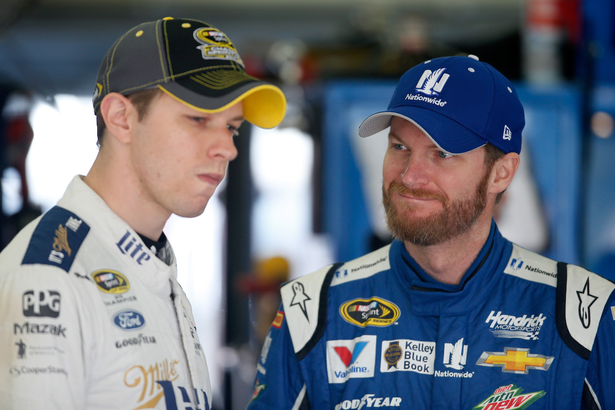 Brad Keselowski Admits He Heard Dale Earnhardt Jr.'s Message About Threatening His Dad's Talladega Win Record Loud and Clear