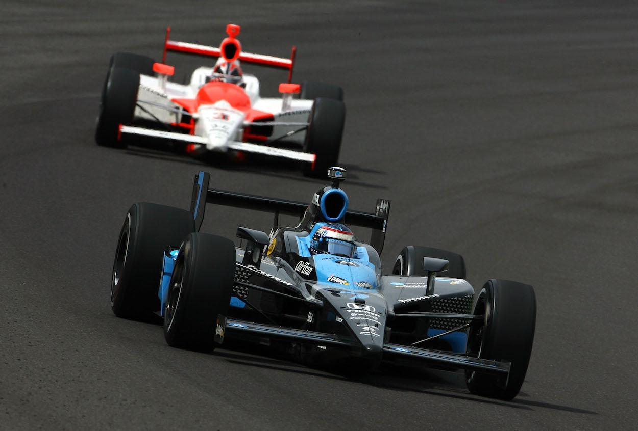 Danica Patrick racing at 2008 Indianapolis 500