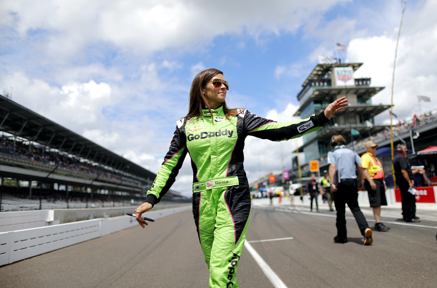 Danica Patrick at the Indianapolis Motor Speedway in 2018.