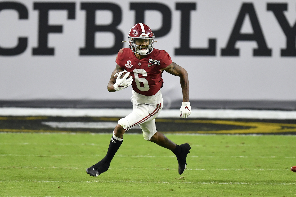 Alabama WR DeVonta Smith is dropping in mock drafts because of his unimpressive size, but he just assured NFL teams it won't be an issue.