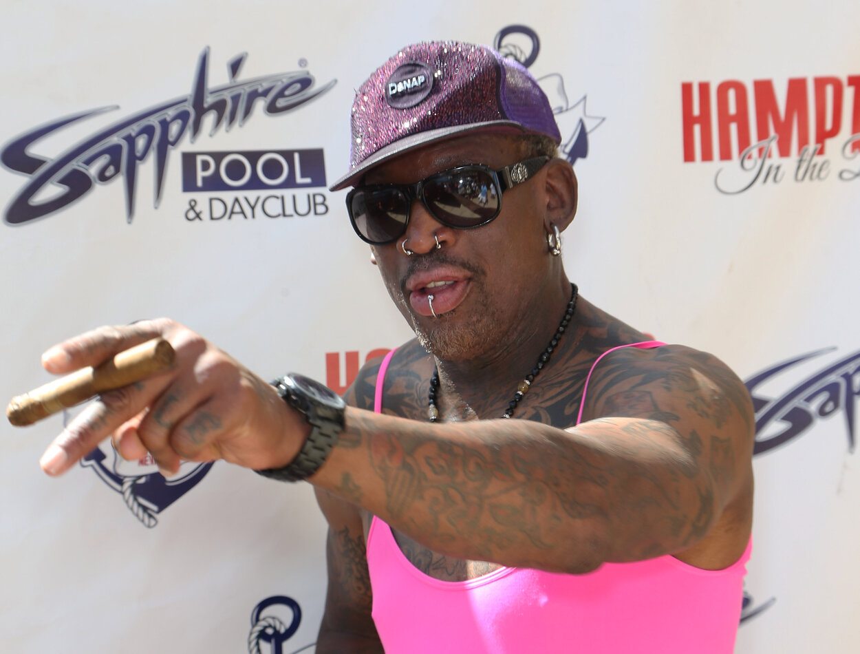 NBA great Dennis Rodman in 2014.