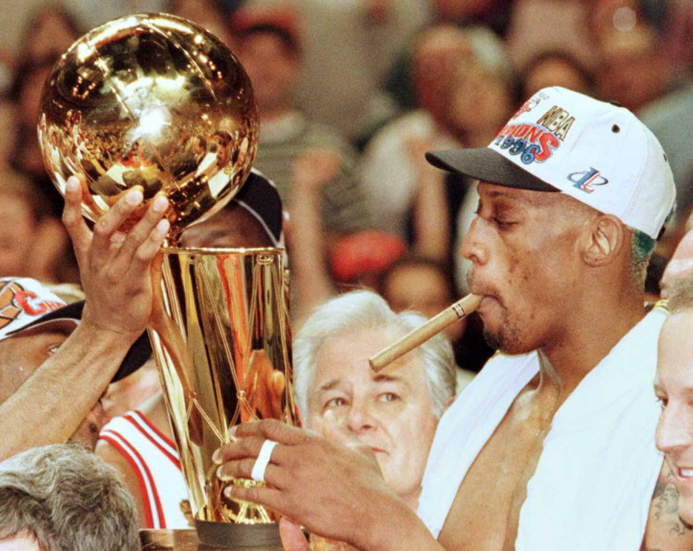 Chicago Bulls legend Dennis Rodman in June 1996.
