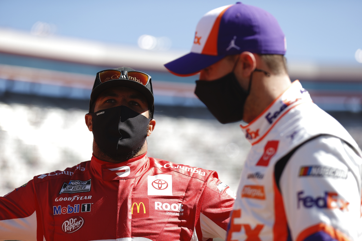 Denny Hamlin Bizarrely Calls out NASCAR Journalist Who Was Defending His 23XI Racing Driver Bubba Wallace
